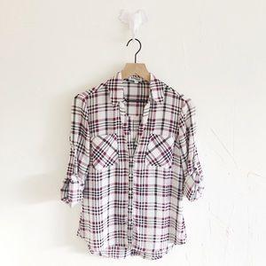 Express Portofino Plaid Shirt